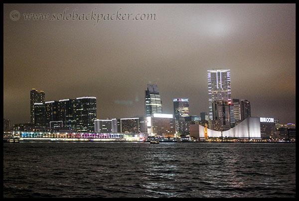 Tsim Sha Tsui Promenade in the night