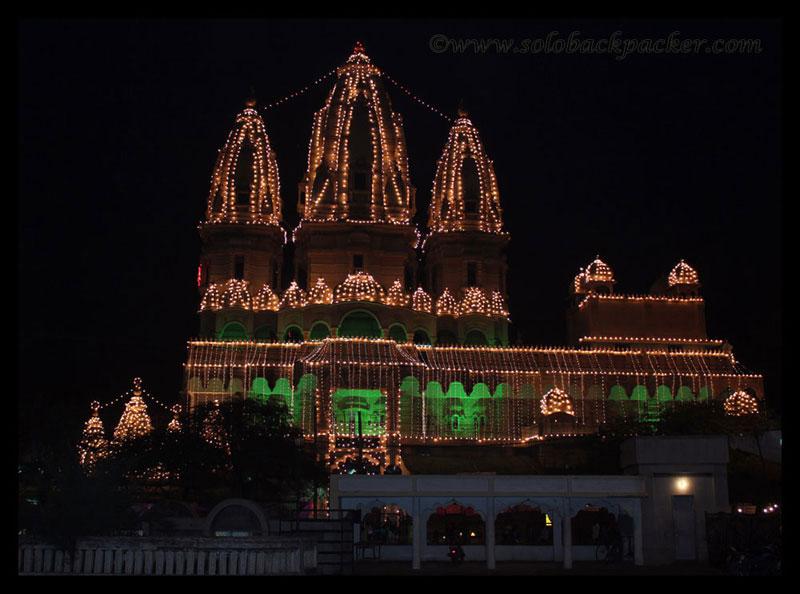 Navratri Decorations Chhatarpur Temple New Delhi Solo
