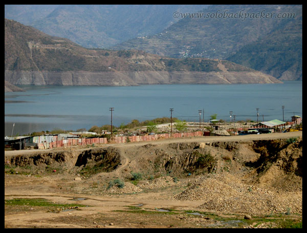 Old Tehri, Now submerged in water