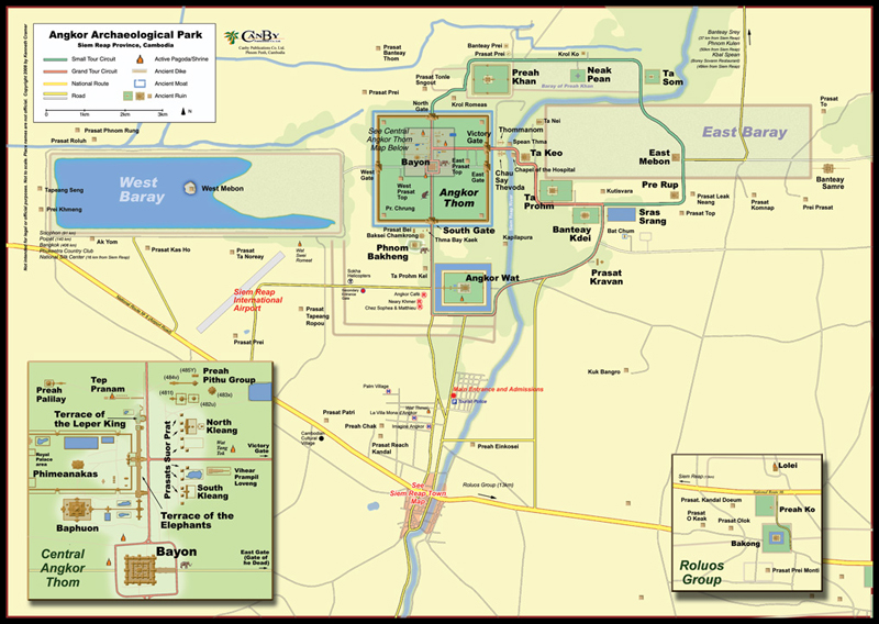 Map of Angkor Archaeological Park