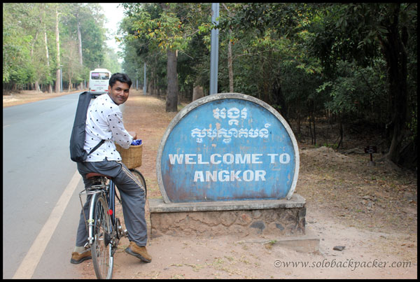 Riding a Rented Bicycle @ Angkor Archaeological Park