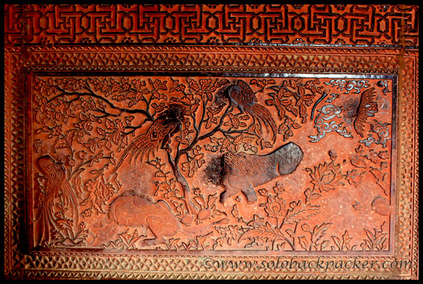 A lower panel of the wall of Turkish's Sultana House @ Fatehpur Sikri