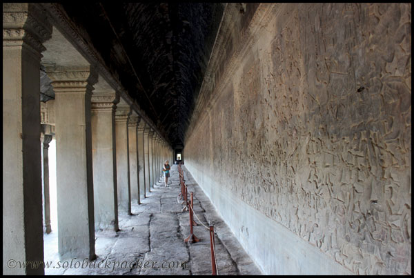 A Gallery at Angkor Wat Temple