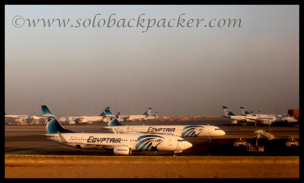 EgyptAir Aircraft at Cairo International Airport