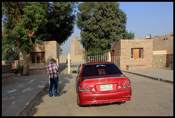 Our Hired Car at Kom Ombo Temple
