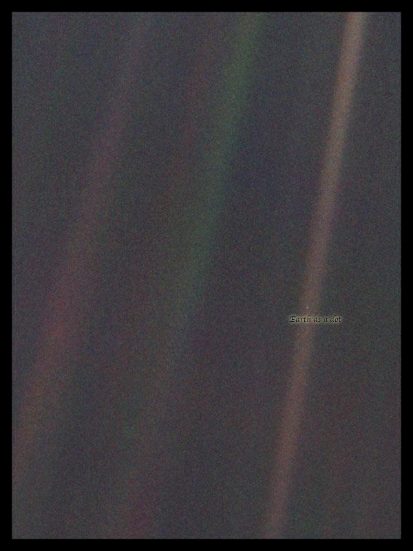 Planet Earth as a Pale Blue Dot
