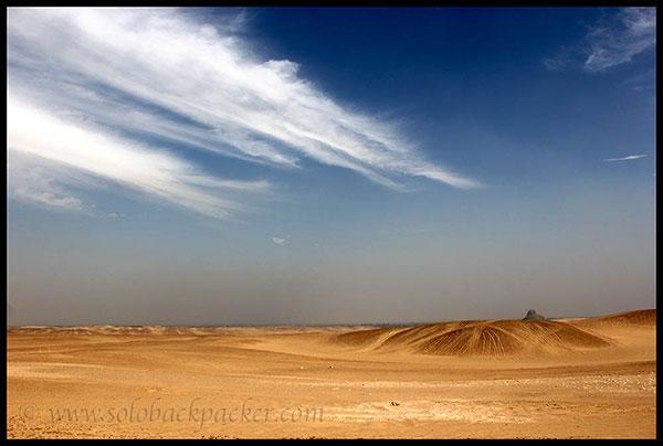 Desert Dahshur Pyramid