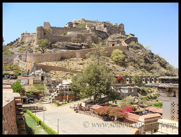 Multiple Layers of Palaces at Kumbhalgarh Fort