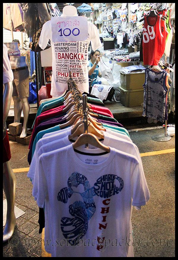 T-Shirt Stall@Chatuchak Market