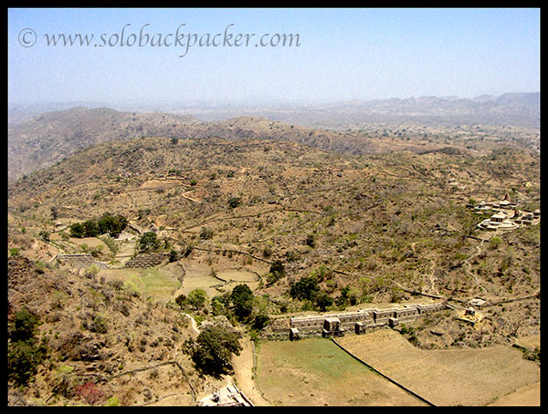 View of The Kumbhalgarh Wildlife Sanctuary from the top