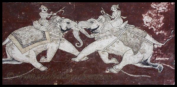 A painting @ Chitrashala, Bundi Palace