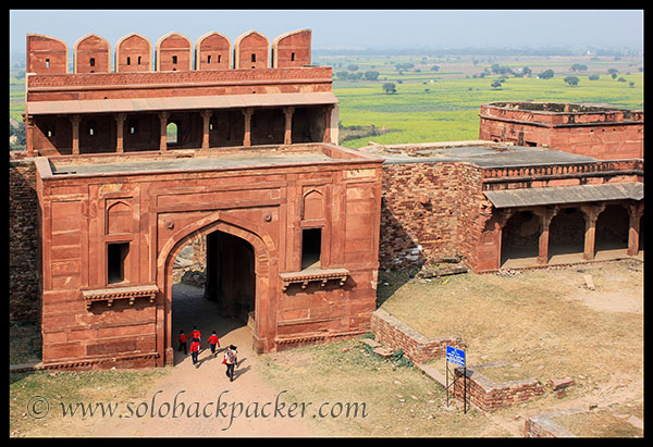 Backdrop of Royal Enclosure @ Fatehpur Sikri