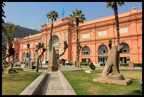 Egyptian Museum adjacent to Tahrir Square