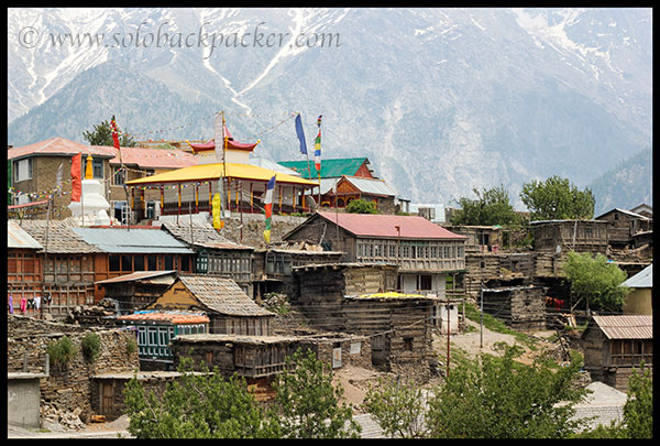 Houses and Buddhist Temple at Kalpa