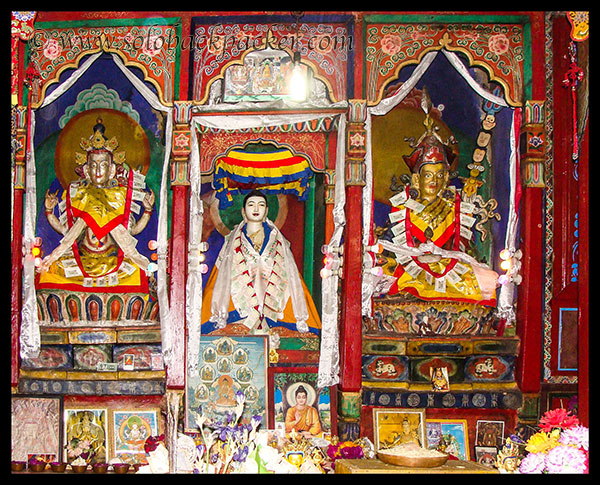 Inside Buddhist Temple at Kalpa