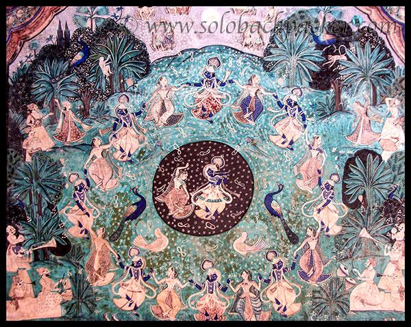 Krishna Playing Rasleela in a painting@Chitrashala