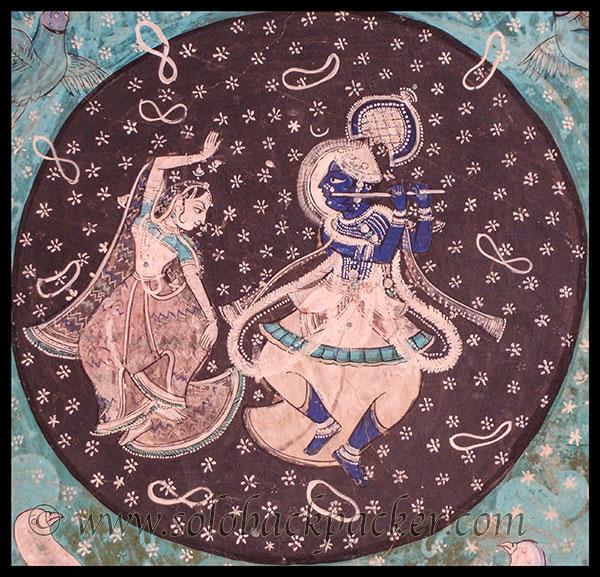 Krishna and Radha in a painting@Chitrashala