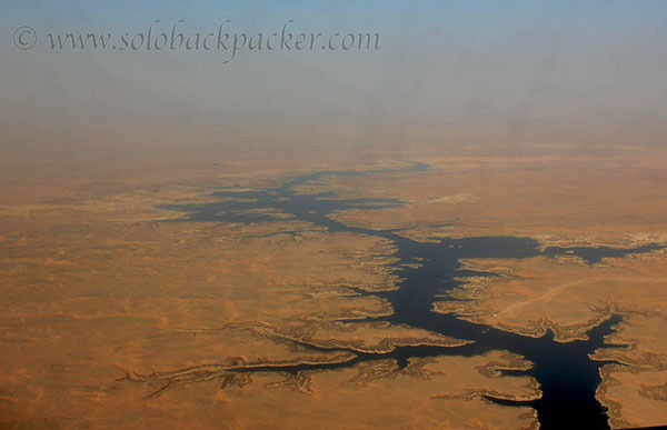 Mighty Nile as viewed from the plane window en-route to Aswan