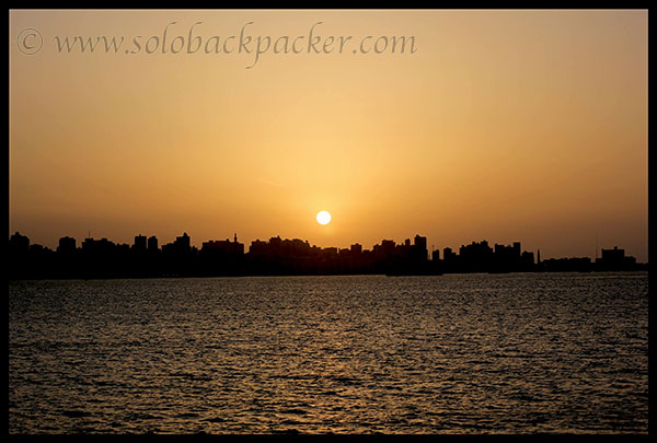 Sunset along the Mediterranean Coast in Alexandria