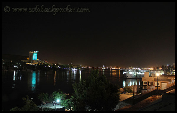 View of Nile River in The Night