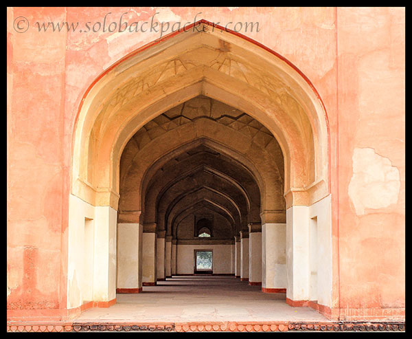 Circumferential Gallery around the cenotaph @ The Tomb of Akbar The Great, Sikandara, Agra
