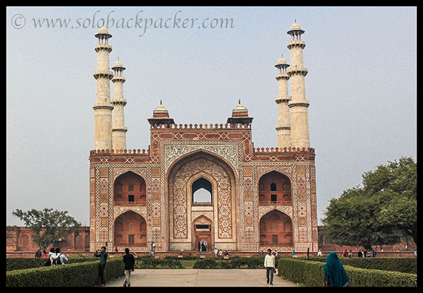 External Entrance of Akbar's Tomb @ Sikandara, Agra