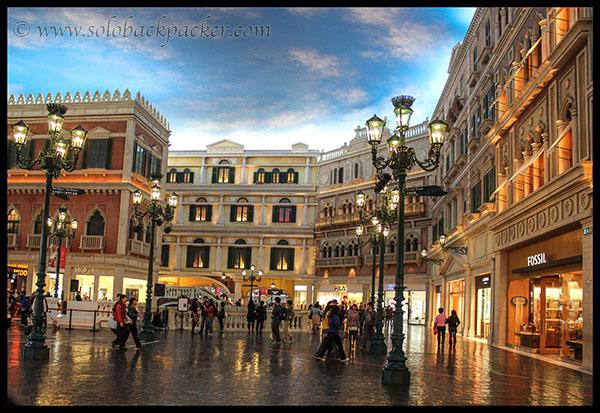 Inside Venetian Casino, Macau