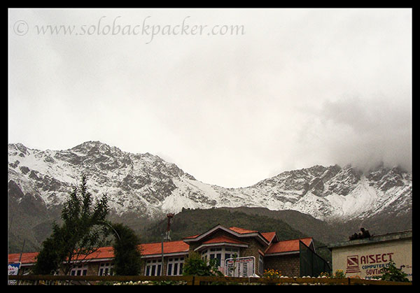 Snow Covered Mountains in Sangla Valley
