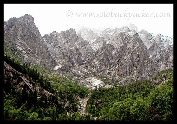 View of Mountains from Sangla-Chhitkul Road