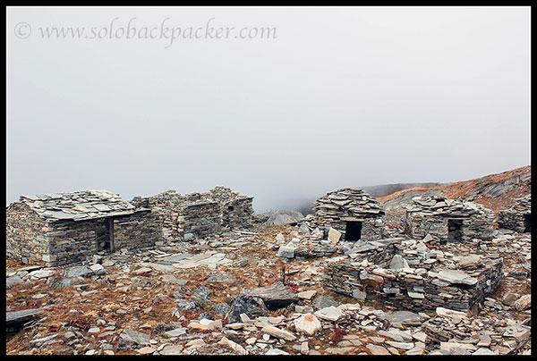 Abandoned Stone Huts Near Bhagwabusa
