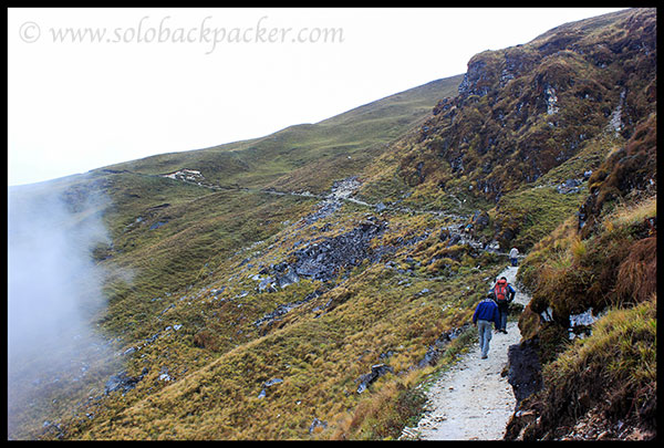 Trek route from Dauliadhaar to Bedini Bugyal