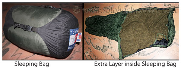 Sleeping Bag with an Extra Layer