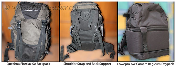 Backpack and Camera Bag