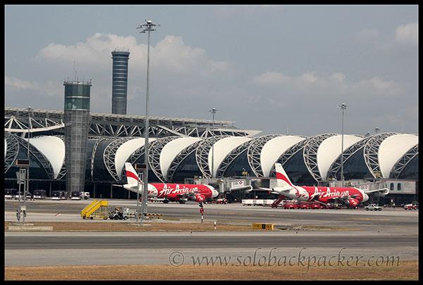 Air Asia Flights at Bangkok Airport