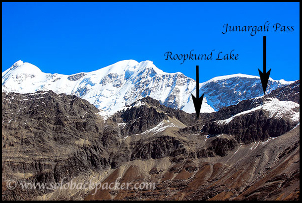 Location of Roopkund Lake and Junargali Pass