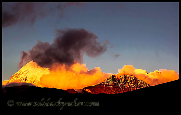 Sunset and Trishul Peak