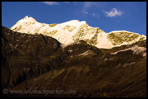Trishul Peak during the sunset