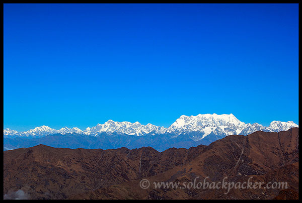View of Chaukhambha and Adjacent Peaks