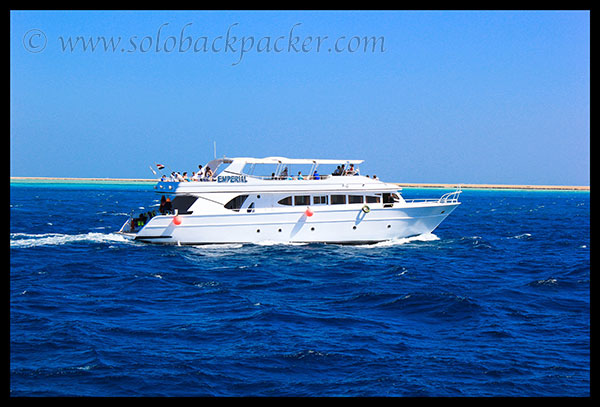A Beautiful Yacht in Red Sea