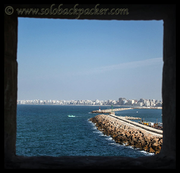 Alexandria from a window of the Citadel
