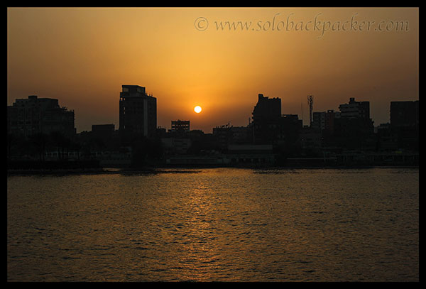 Sunset From Nilometer near Coptic Cairo