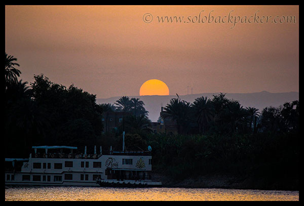 Sunset from The East Bank, Nile River, Luxor