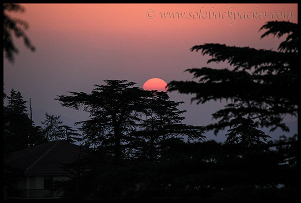 Sunset from Mall Road, Shimla