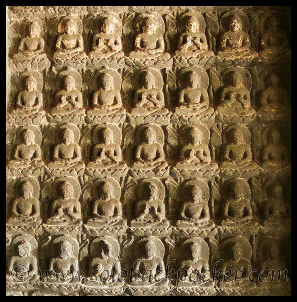 Carvings of Lord Buddha in different forms