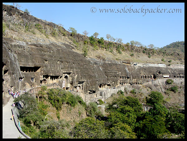 Horse-Shoe Shaped Ajanta Caves