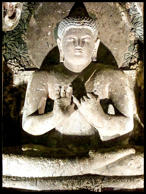 Seated Buddha in Cave 20