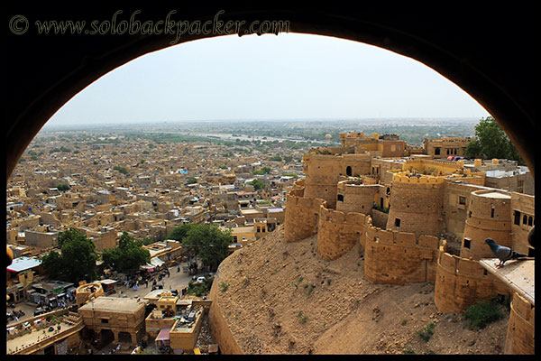 View of Jaisalmer Fort and the city from Patwa Haveli