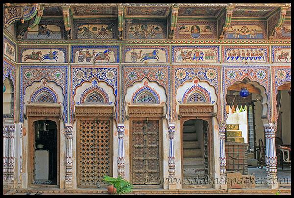 Interior of Nadine Le Prince Haveli, Fatehpur