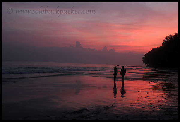 Radhanagar Beach After The Sunset