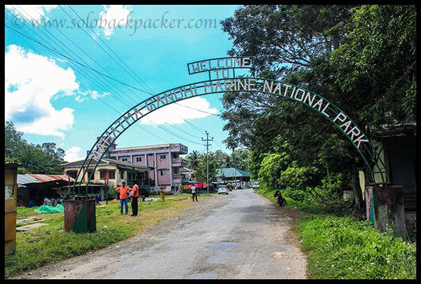 Entrance of Mahatma Gandhi Marine National Park